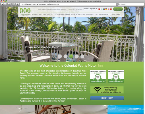 Two thirds colonial palms motor inn website design for Colonial palms motor inn